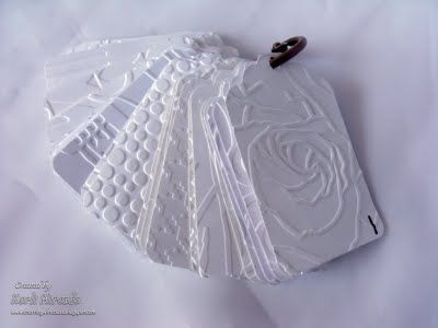 Embossing folder swatches - This blog has helpful ideas for organizing embossing folders.