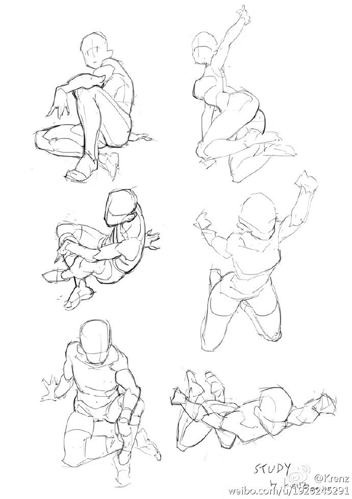 It is a photo of Exceptional Male Sitting Poses Drawing