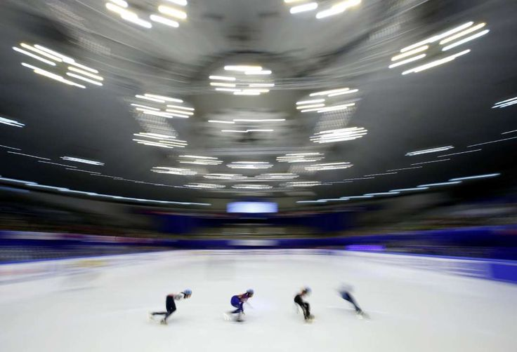 Week of Feb. 24, 2017:     Sapporo, Japan:     Skaters in action at the women's 1500m short track at the Asian Winter Games in Sapporo, Japan, on February 20.