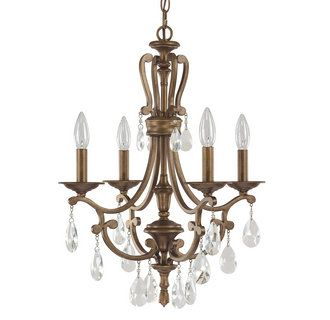 View the Capital Lighting 4294-000 The Claybourne Collection 4 Light 1 Tier Candle Style Chandelier at LightingDirect.com.