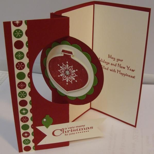 Trifold Ornament Card - Inside by stampinwithcarla - Cards and Paper Crafts at Splitc ...