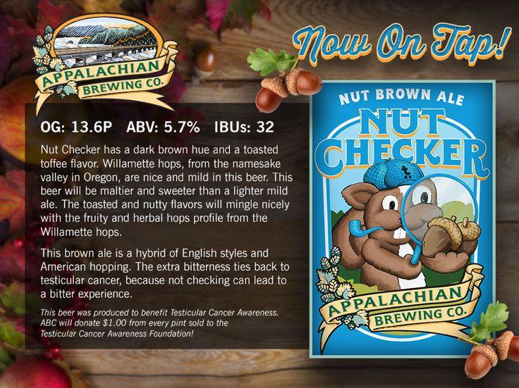 Appalachian Brewing Co.   Nut Checker Brown Ale!