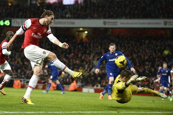 Arsenal fan vows to cover himself in jam if Nicklas Bendtner scores, doesn't disappoint