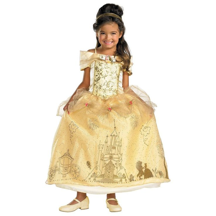 Disney Belle Costume - Toddler, Girl's, Size: 3T-4T, Multicolor
