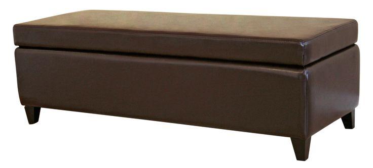 Baxton Studio Leather Storage Bench Ottoman