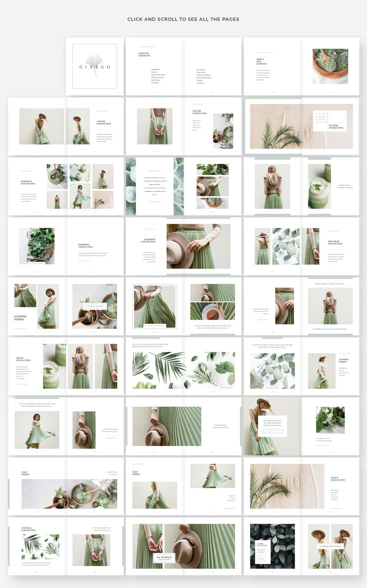Ginkgo Lookbook Template #Unique#Print#Pages#Size
