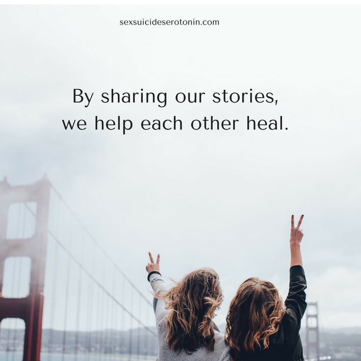 When we share our stories, we help each other heal.