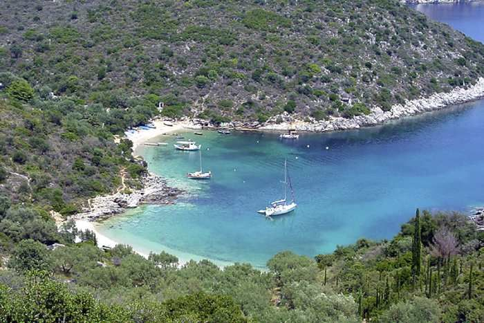 Trails above the coast on Ithaca take you past sites associated with Homeric legend