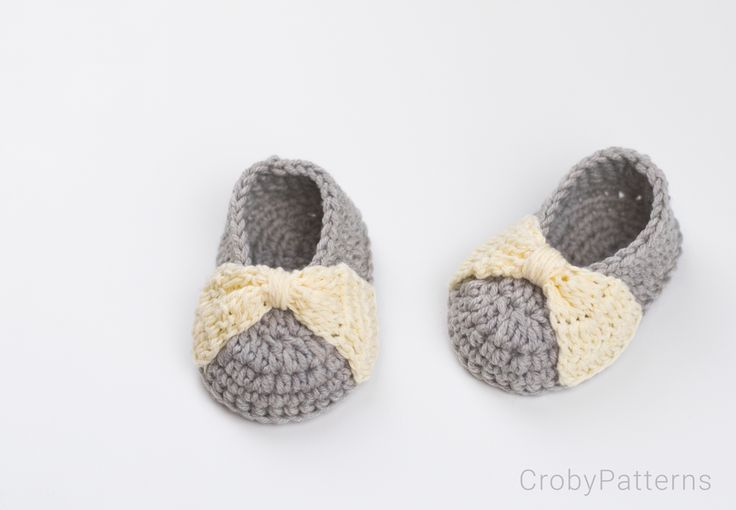 Bow Baby Booties – FREE Crochet Pattern