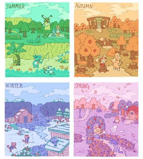 Animal Crossing - seasons