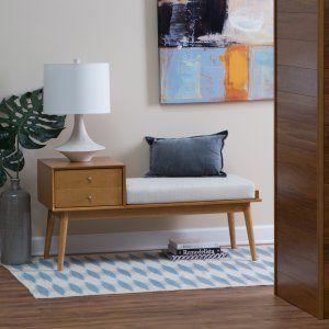 Belham Living Finn Mid Century Modern Bench – Indo…