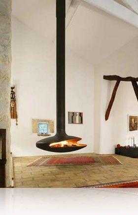 cheminée suspendue