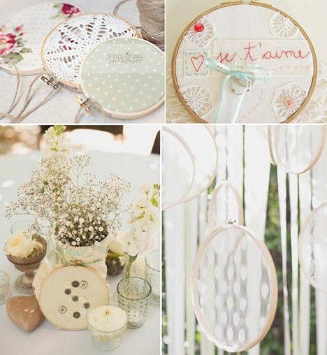 Bastidores na decora o de casamento quem casa quer - Bastidores para bordar ...