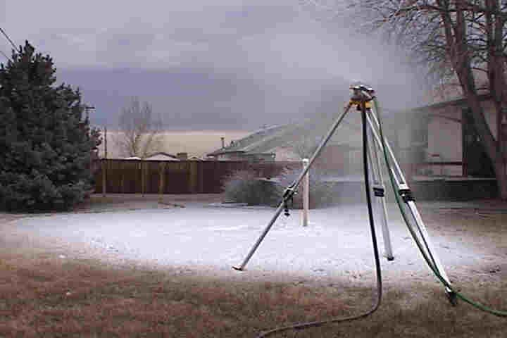 Turn your Pressure washer into a snow making machine this Winter. Here is what you need and how to do it.