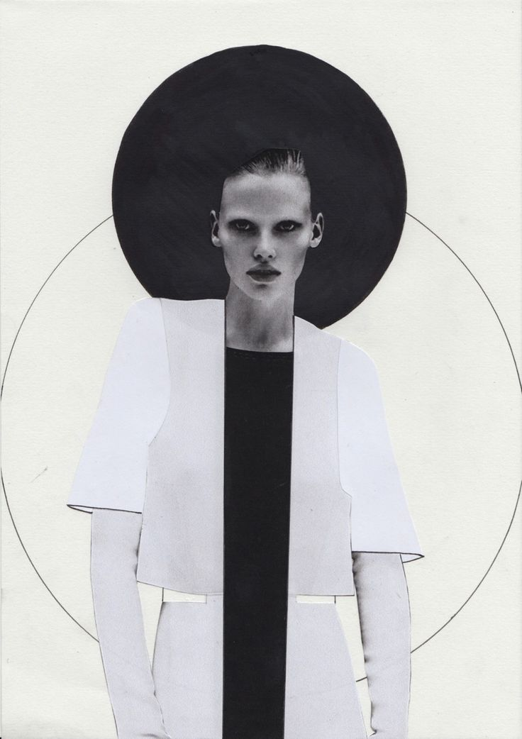 Fashion Sketchbook - fashion illustration for a collection inspired by minimalist architecture // Lucinda Roberts