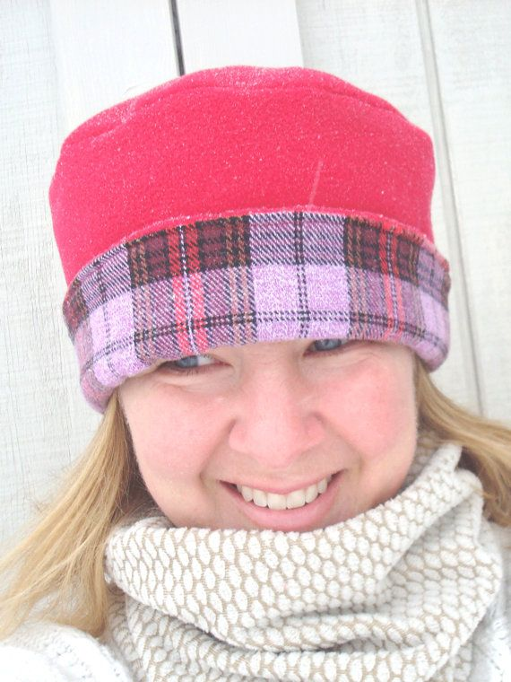 NEW  Polar Fleece Hat for Women  Reversible  by BoundtobeCreative, $24.50
