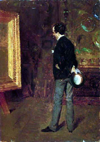 Martino Cafiero | Artist:  Giuseppe de Nittis - Portrait of Martino Cafiero,  1872