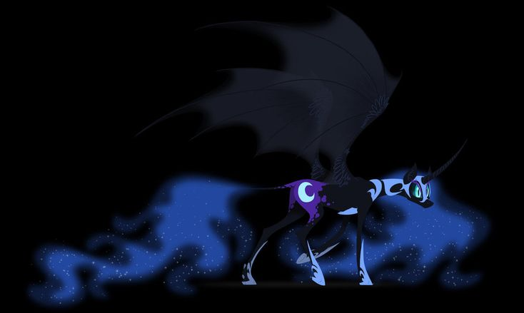 Nightmare Moon sketch by grievousfan on DeviantArt. Love the draconic wings as opposed to the feathers!