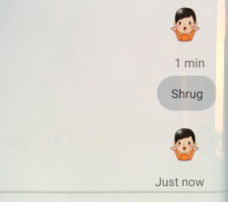 This shrugging emoji looks disturbingly like Hitler when held at a distance...