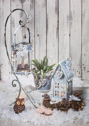Windlicht-Haus, Zink - VBS-Hobby.com