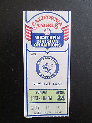 #California angels v #baltimore orioles 1983 #baseball ticket,  View more on the LINK: 	http://www.zeppy.io/product/gb/2/142136497184/