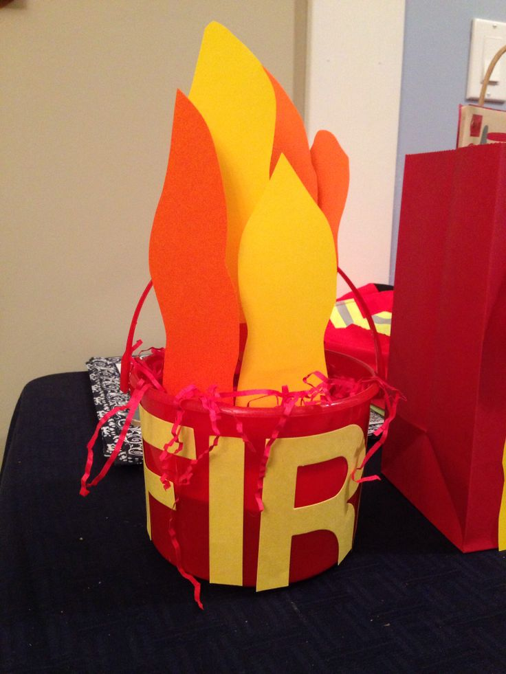 Centerpiece for fireman birthday party like a rockstar