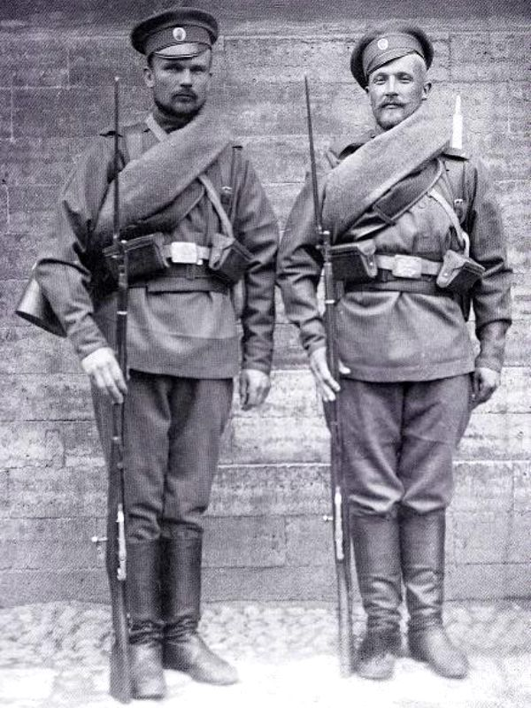 WW1. Imperial Russian Army. Two russian soldiers in France