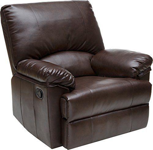 Relaxzen 60-7000 Rocker Recliner, Brown Marbled Leather R…