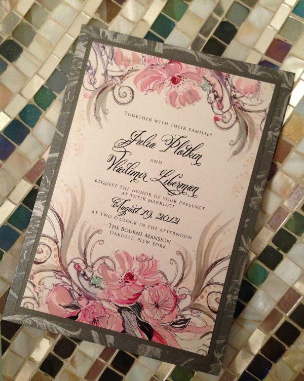 Custom Wedding Invitation by Monumental Designs - mazelmoments.com