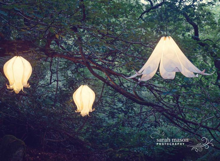 Our beautiful magical twilight photos shoot for Pretty Nostalgic magazine last year. Photo by Sarah Mason. Colin Chetwood paper flower lampshades from Radiance www.radiancelighting.co.uk