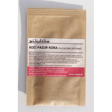 Koci Pazur Kora (Vilcacora) Ekstrakt - słynie ze swoich właściwości regenerujących, przeciwbakteryjnych, przeciwzapalnych, ale przede wszystkim przeciwutleniających.