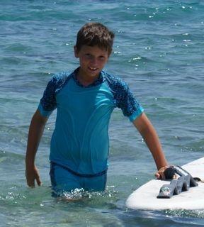 Bondi sun protection swimwear for boys. love it! Around $28. from SunTrooper.com