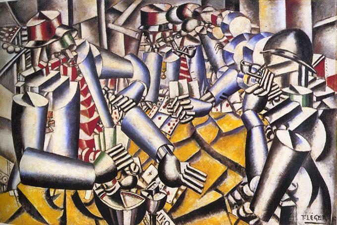 [Fernand Léger] La partie de carte, 1917