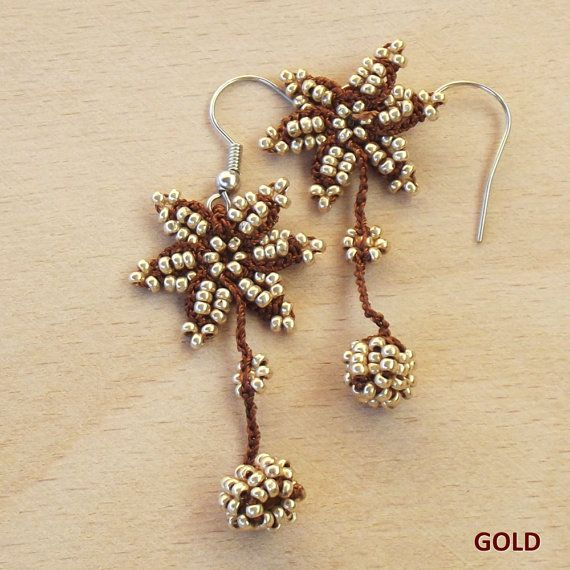 Turkish OYA Lace Earring Star 9 colors by DaisyCappadocia