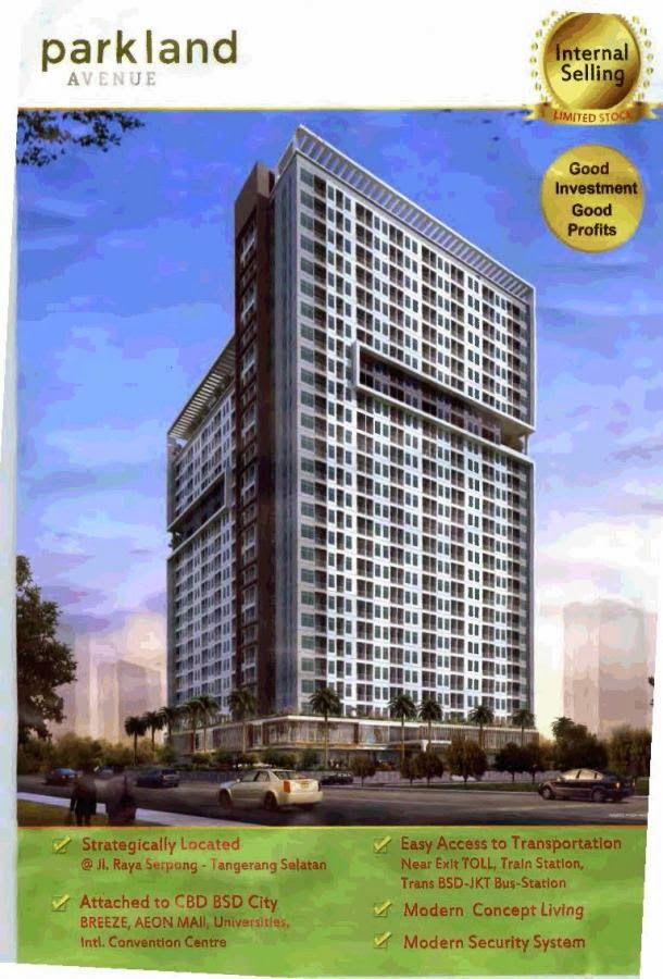 "Apartemen BSD - Serpong ""Parkland Avenue"": Reasonable price, strategic location, profitable investment"