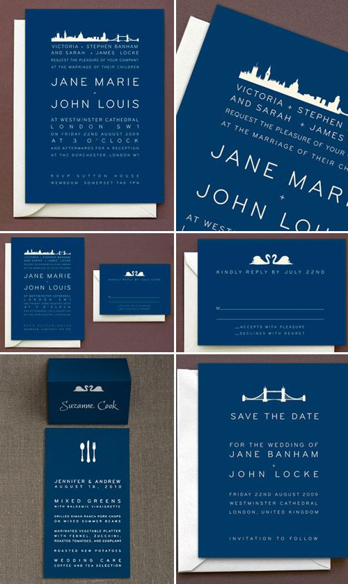 City Skyline Wedding Invitations from Hello!Lucky. #invites #invitations #weddinginvitations