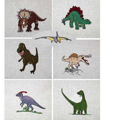 Dinosaurier-Set 1   2 by Gabrielles Embroidery