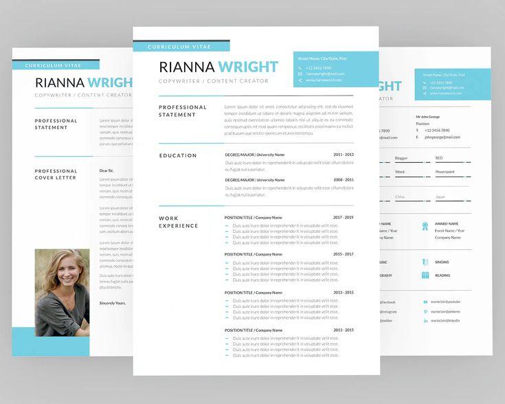 Modern resume template modern resume template indesign