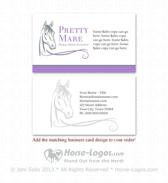 26 Best images about Horse Business Cards on Pinterest ...