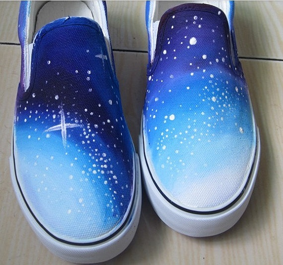 Hand Painted Shoes Sky painted shoes shoes for by canvasshoesetsy, $27.99
