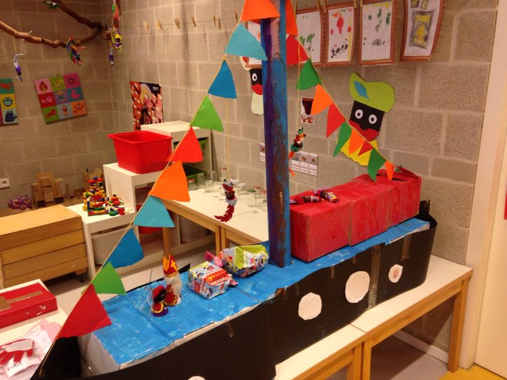 3d knutsel: 3D stoomboot maken met 8 kinderen coöperatief
