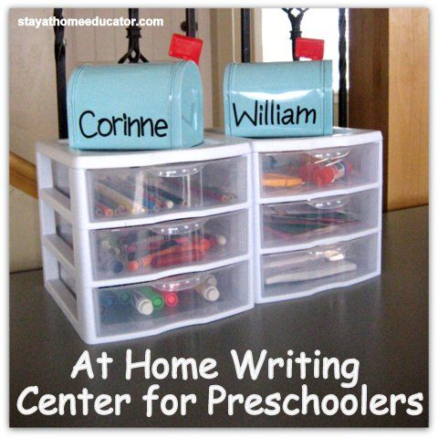 Keep everything organized and encourage your children to write, draw, and develop their fine motor skills.