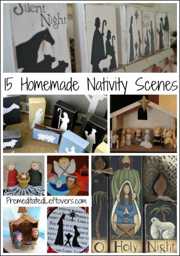 15 Homemade Nativity Scenes and Activities - frugal DIY activities and decorations.