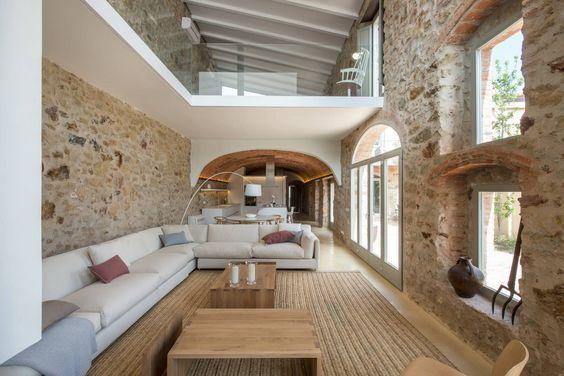 reforma e interiorismo casa de pueblo pals   Gloria Duran - Estudio de Arquitectura