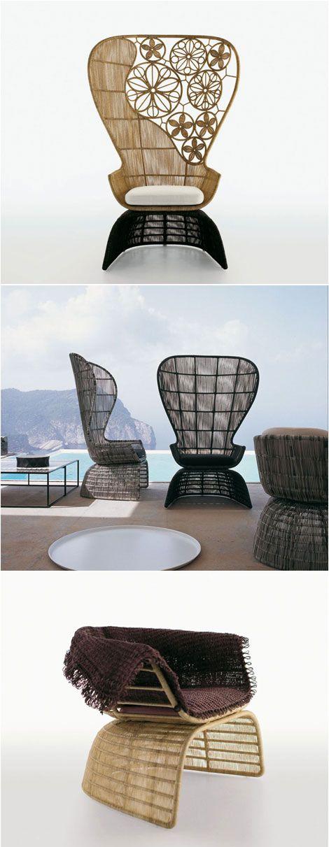 patricia urquiola crinoline chairs