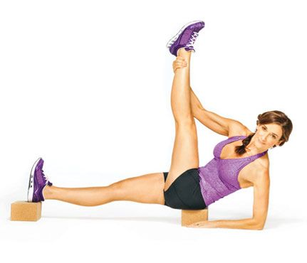 flat abs with yoga blocks  ke fitness  pinterest