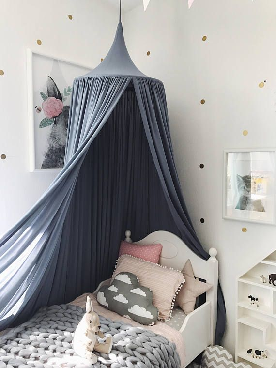 Bed Canopy Play Blue Nursery Dark Baldachin In 2019 For The Babies Black Crib Bedding