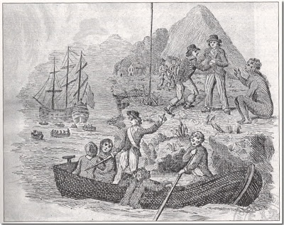 Convicts arriving at Botany Bay - from Children, Poverty, & Crime in the Regency Era | Jane Austen's World