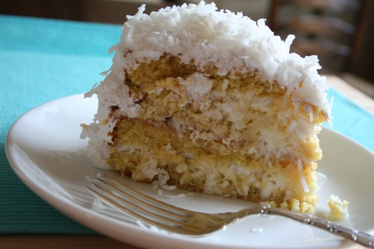 "So here it is…. the ""Best Ever"" Coconut Cake. Be forewarned, you can't have just one piece of this decadently moist coconut cake."