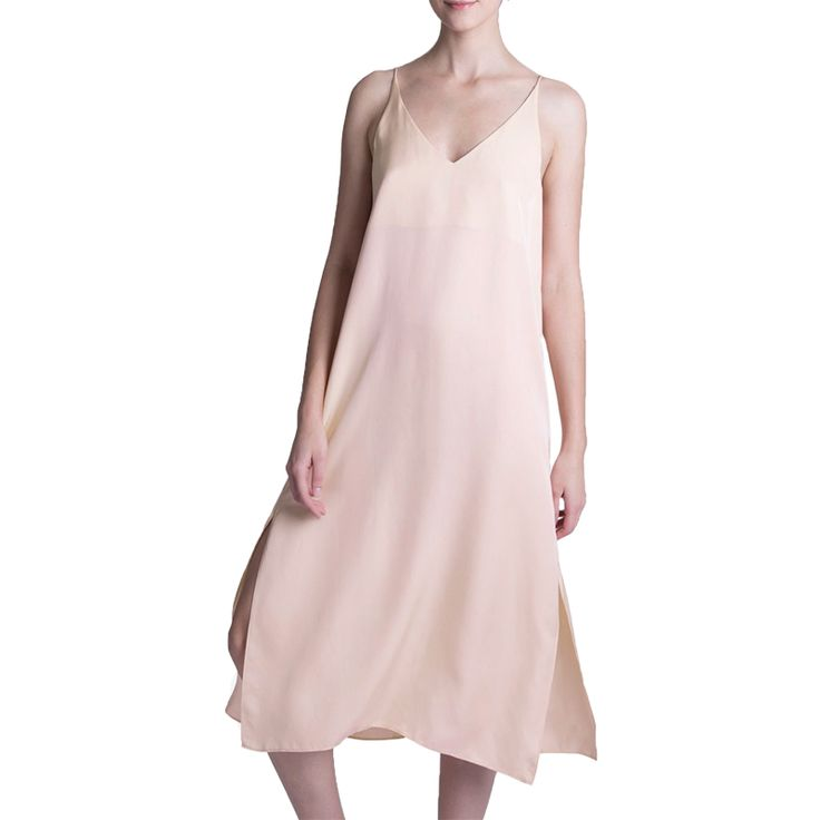 "- ""With the silk fabric and streamlined silhouette, this dress makes me feel like I actually tried—when in reality I spent all of two seconds slipping into it and bouncing out the door.""—Samantha McDonald, News EditorGrana Silk V-Neck Slip Dress In Blossom, $79"